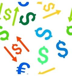 Dollar Swap Flat Seamless Pattern vector