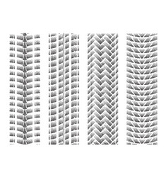 Dotted tire track set 5 vector