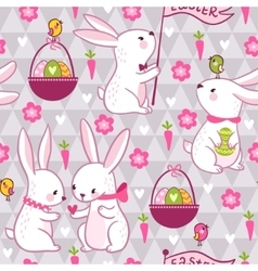 easter concept seamless pattern vector image