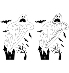 Easy ghost maze vector
