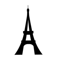 eiffel tower france silhouette vector image
