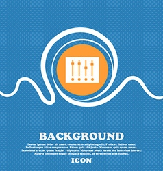 Equalizer icon sign Blue and white abstract vector
