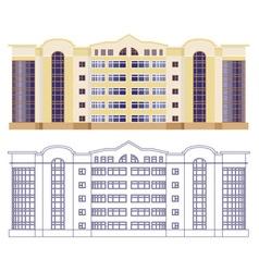 facade of the house vector image