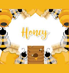 Farm fresh honey vector