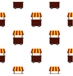 Fast food cart pattern seamless vector