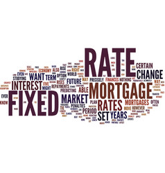 Fixed rate mortgages know your rate text vector