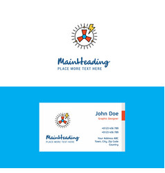 flat turbine logo and visiting card template vector image