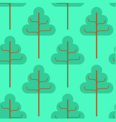 forest seamless pattern green trees ornament kids vector image