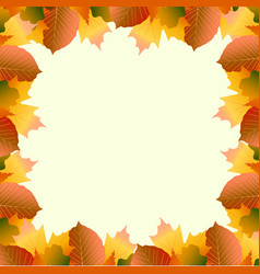 frame from autumn leaves vector image