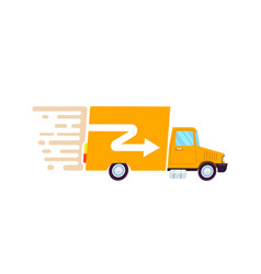 Goods fast delivery freight truck icon vector