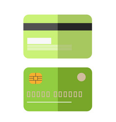 green colored credit card vector image