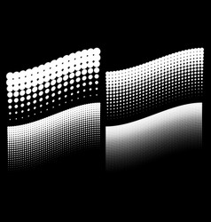 halftone dots wave backgrounds vector image
