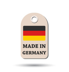 Hang tag made in germany with flag on white vector