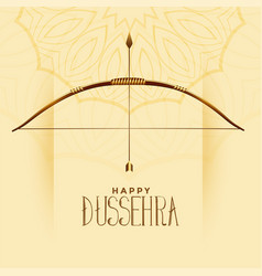 Happy dussehra celebration greeting indian vector