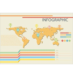 Infographics of a map vector image