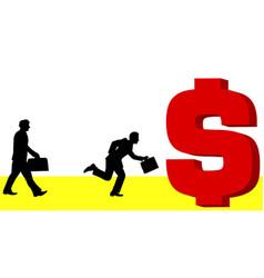 Man to money vector