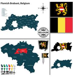 Map of flemish brabant belgium vector