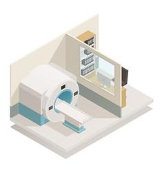 Medical diagnostic equipment isometric vector