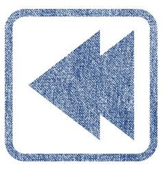 Move left fabric textured icon vector