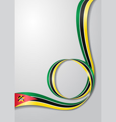 Mozambique flag wavy background vector