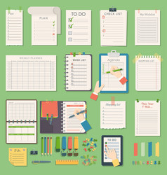notebook agenda business planner note vector image