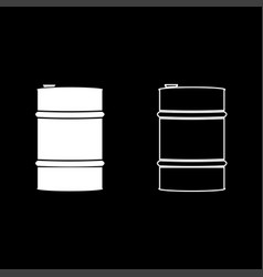 oil baller icon set white color flat style simple vector image