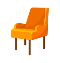 Orange armchair with low railings vector