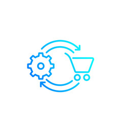 order processing line icon vector image