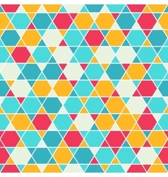 Patterned six-rays star background vector