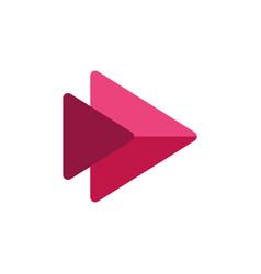 Play button streaming icon vector