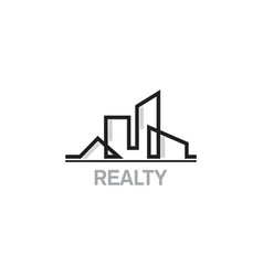 realty home building company logo vector image