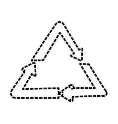 recycle arrows symbol cartoon vector image