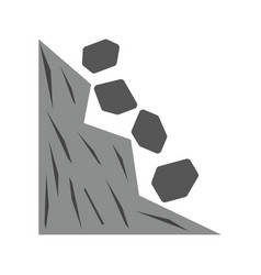 Rocks falling vector