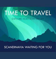 scandinavia travel banner template - scenic vector image