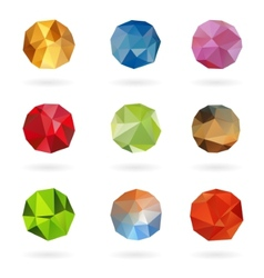 Set from triangle colored abstract in a circle vector