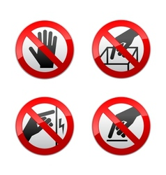 set prohibited signs - not touch vector image vector image