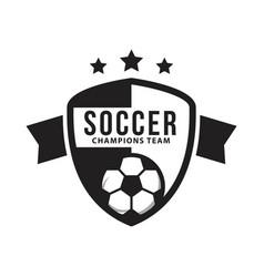 Soccer club logo template design vector