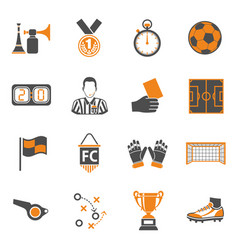 Soccer two color icons set vector