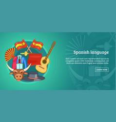 spain banner horizontal cartoon style vector image