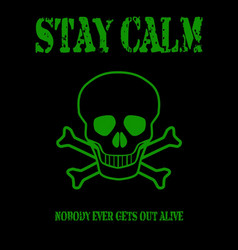 Stay calm vector