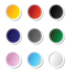 sticker set color vector image