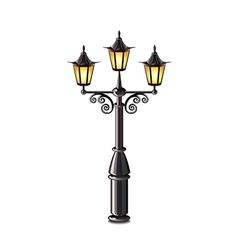 street lantern isolated vector image