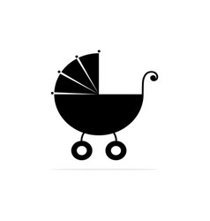 stroller for children icon concept vector image