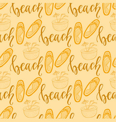 summer seamless pattern with flip flops for vector image