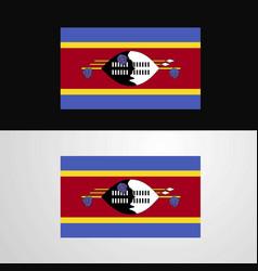 Swaziland flag banner design vector