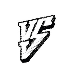symbol competition vs versus vector image