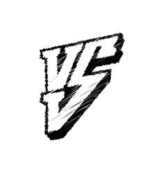 symbol competition vs versus vector image vector image