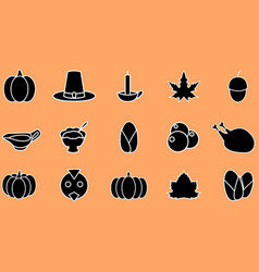 thanksgiving miscellaneous icon vector image