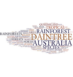 The ancient beauty of australia s daintree vector