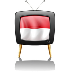 The flag of Monaco inside the TV vector